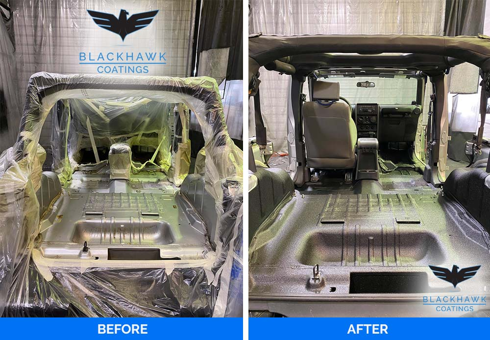 Bed Liner Before and After